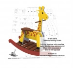 Childrens Giraffe Rocker Woodworking Pattern - fee plans from WoodworkersWorkshop® Online Store - giraffes,rocking,childrens,kids,childs,furniture,safari,painting wood crafts,scrollsawing patterns,drawings,plywood,plywoodworking plans,woodworkers projects,workshop blueprints