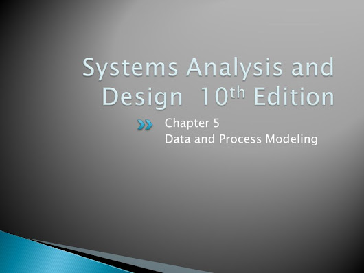 Chapter 5 Data and Process Modeling