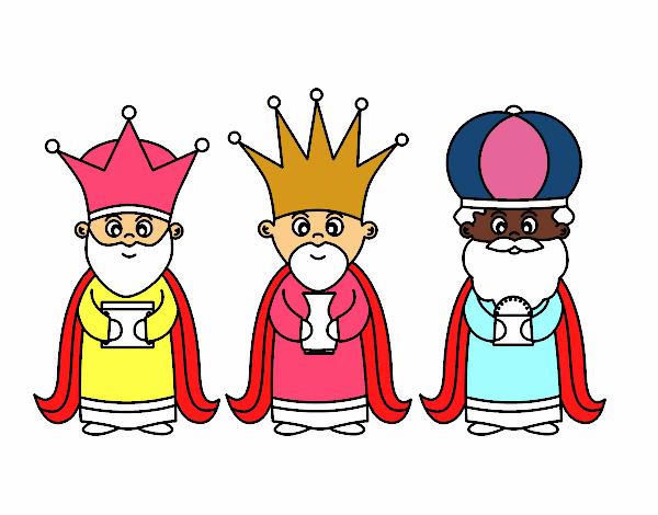 Dibujo De Los 3 Reyes Magos Pintado Por Bautopa En Dibujosnet El
