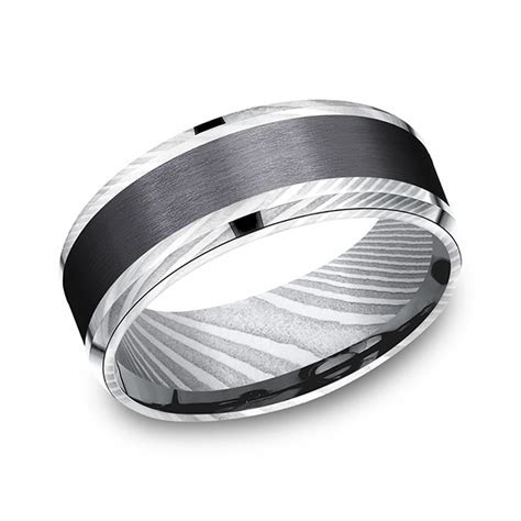 Forge Black Titanium Comfort fit Design Wedding Band