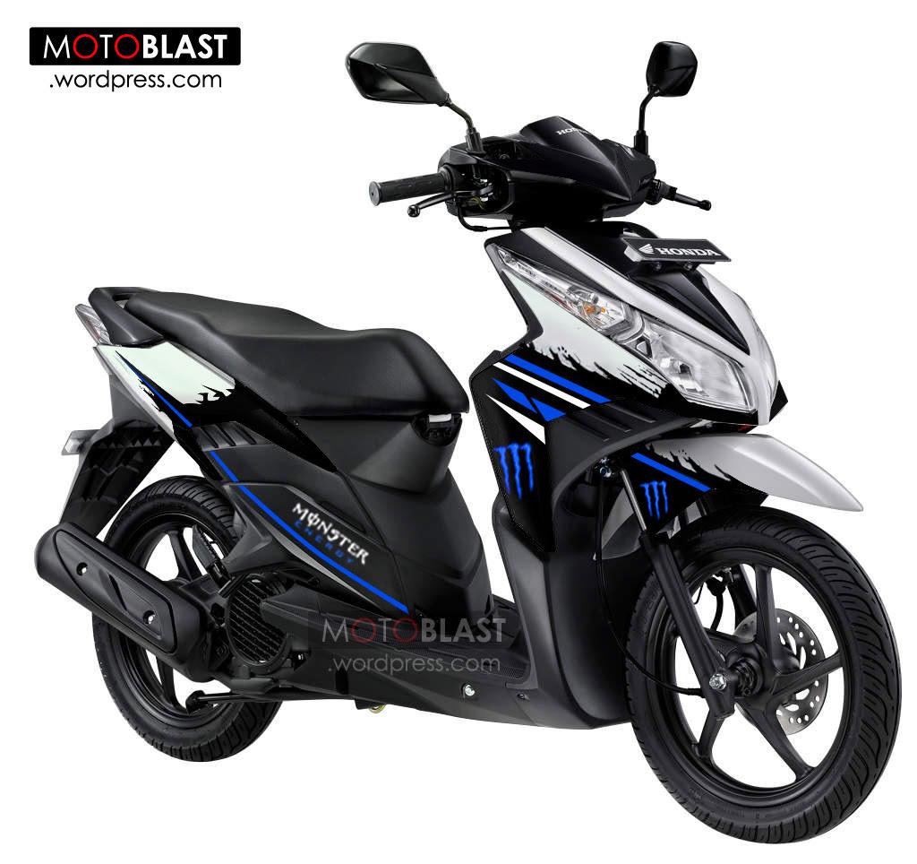 Modifikasi Vario 125 Warna Putih Biru Galeri Motor Vario