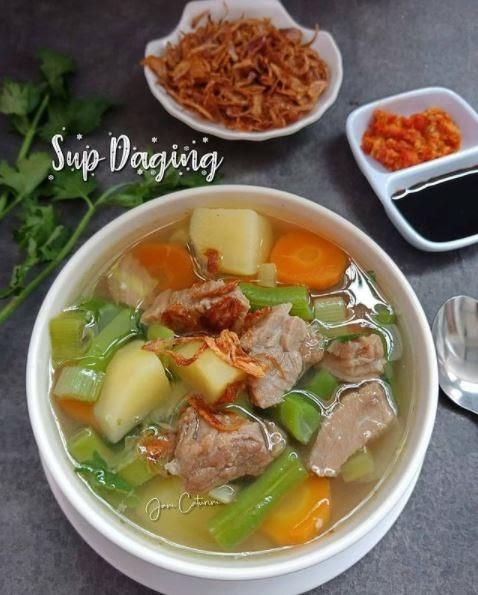 Begini Cara Gampang Membuat Sup daging sapi