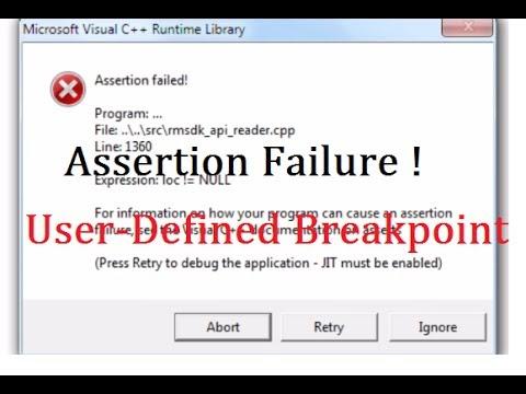 debug assertion failed