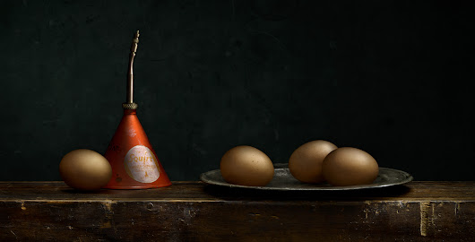 Still Life with Eggs… and Solvent?