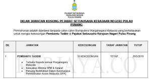 Pejabat Setiausaha Kerajaan Negeri Pulau Pinang • Kerja ...