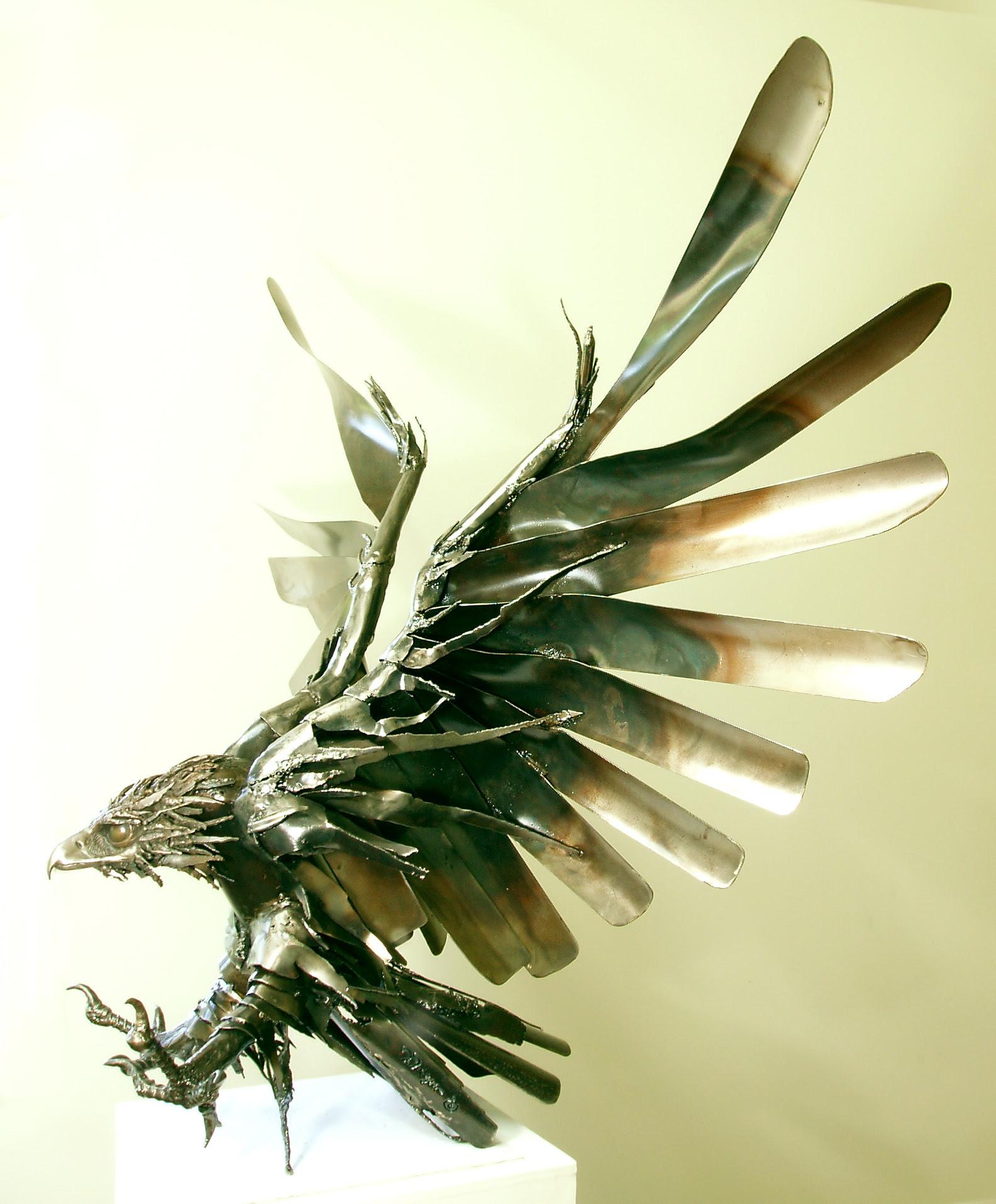 Raptors, Garden Art, Wildlife Sculpture, Metal Sculpture ...