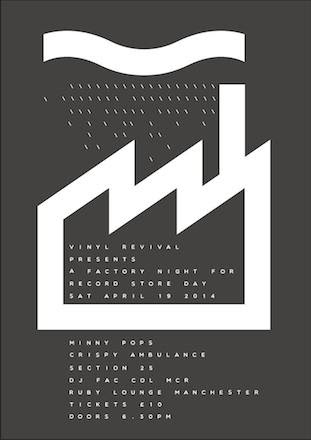 A Factory poster for Record Store Day 19 April 2014