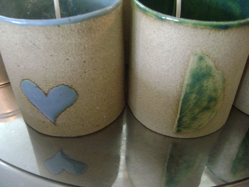 Handmade containers for Bon Zai and Orcas candles