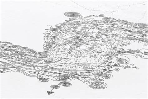 elaborate snow drawing  artist sonja hinrichsen