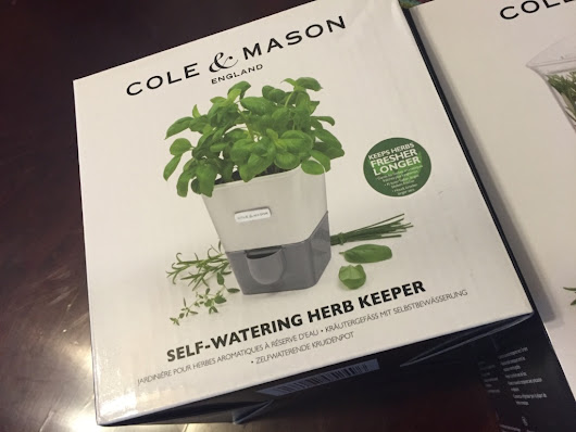 New GiveAway!!! Cole & Mason Self-Watering Potted Herb Keeper - What Bri's Cooking