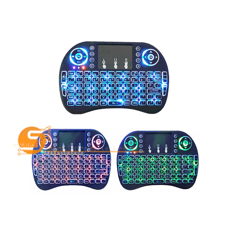 7892dc0774b Three-color backlight mini keyboard touch-control flying mouse 2.4G mini  keyboard wireless Bluetooth keyboard free shipping notice:Not including  batteries