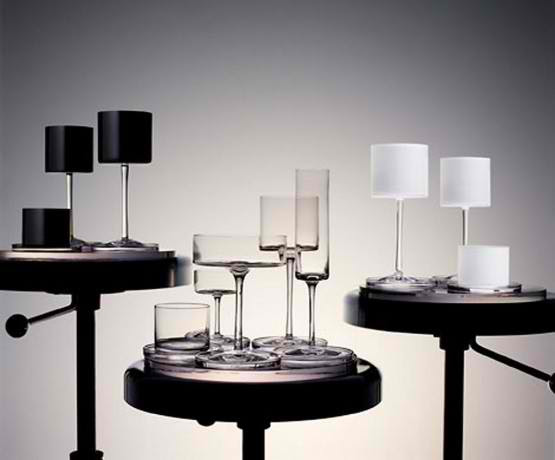 fashionable design glass furniture with simple color scale Orrefors