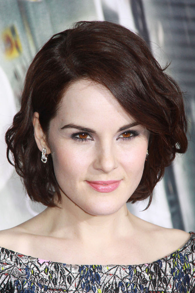 Michelle Dockery Wavy Bob Celebrity Hairstyle