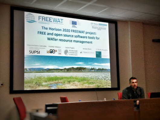 "massimiliano cannata on Twitter: ""@H2020Freewat @eip_water - #FREEWAT at Italian #FOSS4G meeting @gfossit @OSGeo - stay tuned for code release! """