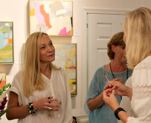 CLAIBORNE RILEY | OPENING RECEPTION PICS - Palette Paint