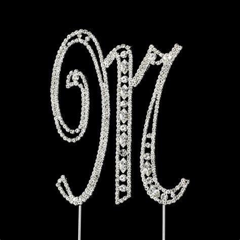 Vintage ~ Swarovski Crystal Wedding Cake Topper ~ Letter M