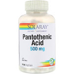 Solaray Pantothenic Acid 500 mg capsules - 100 count