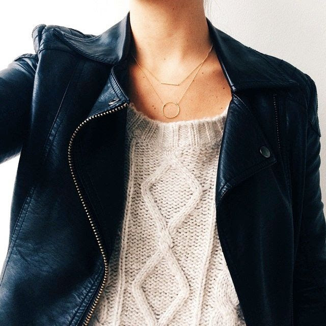 Le Fashion Blog Jewelry Crush -- Dogeared Delicate Necklaces -- Balance Bar Necklace, Karma Necklace, Cable Knit Sweater & Leather Moto Jacket -- Via Colby Milano of Moeh Fashion -- photo Le-Fashion-Blog-Jewelry-Crush-Delicate-Necklaces-Dogeared-Balance-Bar-Karma-Cable-Knit-Leather-Jacket-Via-Colby-Milano-Moeh-Fashion.jpg