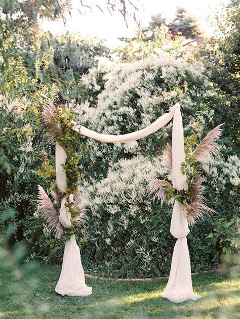 Foraged Fall Wedding Ceremonies Arch   Once Wed