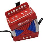 Schoenhut 7018R Accordion Music Instrument Red
