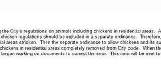 Chickens OK in OKC: The Memo