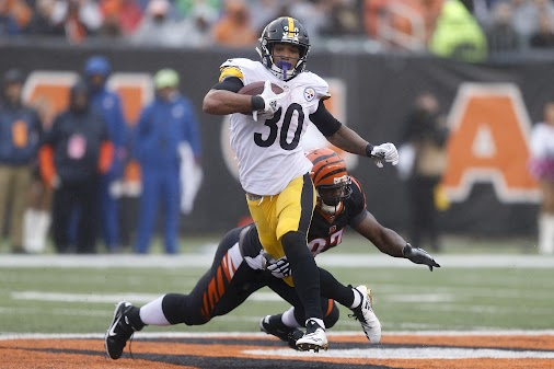 https://sports.yahoo.com/leveon-bell-shows-replacement-james-conner-love-twitter-201036645.html Le'Veon...