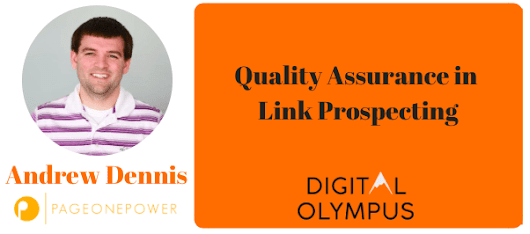 Quality Assurance in Link Prospecting - Digital Olympus