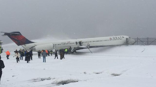 Developing: Plane Evacuated After Skidding Off LGA Runway