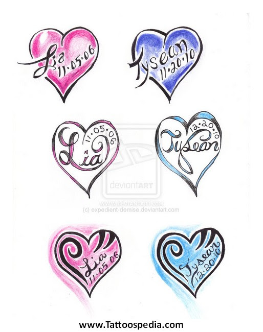Tattoos Hearts With Names 16 Tattoo Name Designs With Hearts
