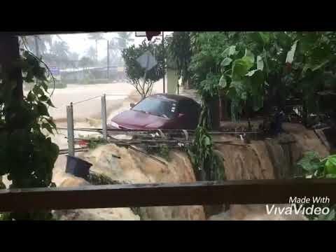 ฝนถล่มเกาะช้าง! น้ำป่าทะลักท่วมหนักหลายจุด