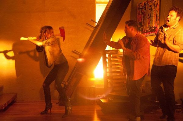 Emma Watson isn't in the mood to deal with Jonah Hill and Seth Rogen while the Apocalypse takes place in THIS IS THE END.