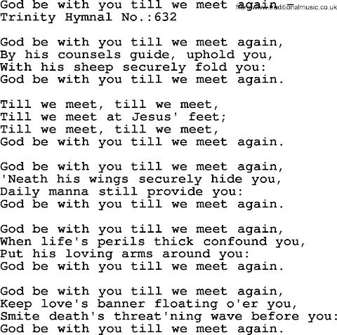 Till We Meet Again Lyrics Hymn
