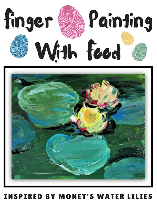 Finger Painting With Food: Inspired By Monet's Water Lilies - Woo! Jr. Kids Activities