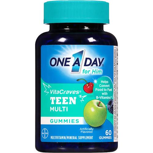 One A Day VitaCraves Vitamins, Teen for Him, Gummies - 60 gummies