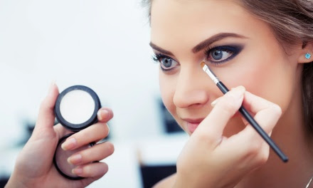 Professional Makeup Application with Eyelash Application or Hair Styling at The House Of A'mara (Up to 75% Off)