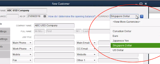 QuickBooks foreign currency transaction