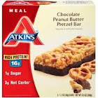 Atkins Meal Bar, Chocolate Peanut Butter Pretzel, 5 pack, 1.69 oz bars