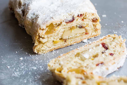 Vegan Stollen Recipe with Marzipan Filling (Egg-Free, Dairy-Free)