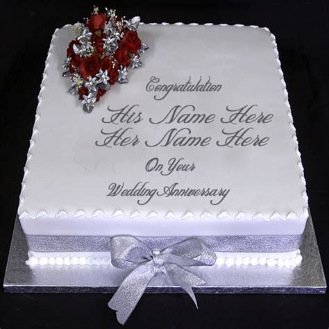 Create Anniversary Cake Pics With Name   wishes greeting card