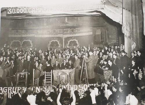 Acto de Largo Caballero en el Teatro de Rojas de Toledo.Fotografía Rodríguez