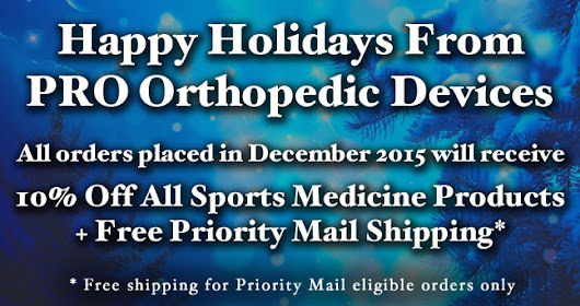 10% Discount on all standard Sports Medicine products