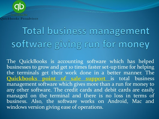 Total business management software giving run for money