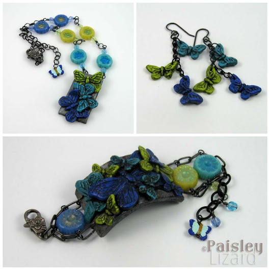 Jewelry Design Challenge: Polymer Clay - Paisley Lizard