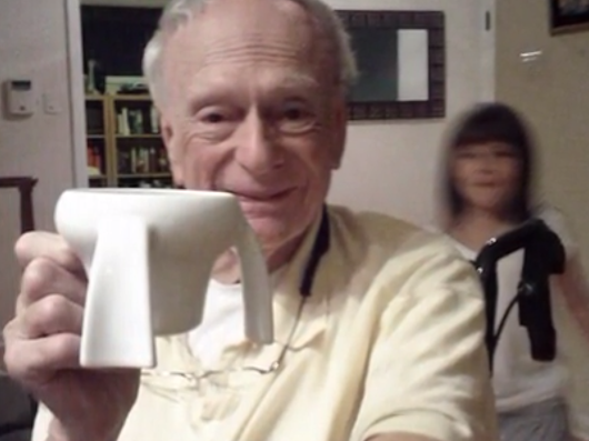 Brilliant 11-Year-Old Designs An Unbreakable, Spill-Proof Cup For Her Ailing Grandpa