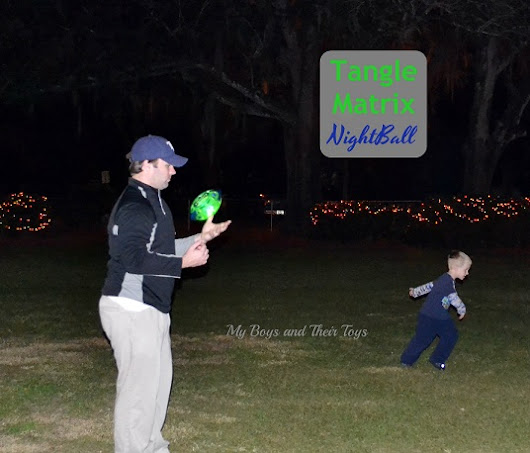 Tangle Matrix NightBall - Glow in the Dark Football Review + Giveaway - My Boys and Their Toys