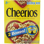 General Mills Cheerios Toasted Whole Grain Oat Cereal - 2 pack, 20.35 oz each