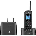 Motorola - MOTO-O211 Expandable Cordless Phone System with Digital Answering System - Black