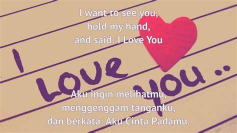 ml kata kata cinta romantis bahasa inggris  artinya