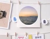 Photography print landscape sunset circle 8 x 8