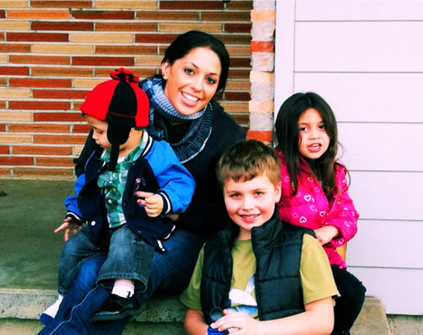 Amber Parker and her children